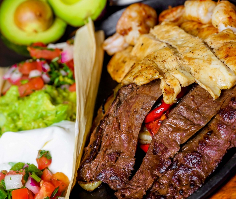 Fuego Tortilla Fajitas Texanas mexican food